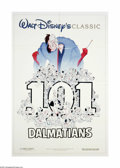 "Movie Posters:Animated, 101 Dalmations (Buena Vista, R-1991). One Sheet (27"" X 41"").Offered here is an original poster for this animated comedy sta..."