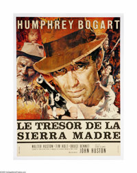 "The Treasure of the Sierra Madre (Warner Brothers, R-1952). French Poster (22.5"" X 30.5""). Humphrey Bogart rec..."