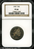 Proof Barber Quarters: , 1902 25C PR 66 NGC. ...