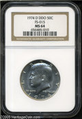 Kennedy Half Dollars: , 1974-D 50C Doubled Die Obverse MS64 NGC FS-015....