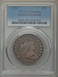 Early Half Dollars, 1805 50C -- Tooled -- PCGS Genuine. VG Details. NGC Census:(6/268). PCGS Population: (19/600). CDN: $325 Whsle. Bid for pr...