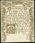 Colonial Notes, Connecticut June 1, 1780 10s Choice About New.. ...