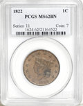 Large Cents, 1822 1C MS62 Brown PCGS....