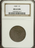 1840 1C Large Date MS63 Brown NGC....(PCGS# 1820)