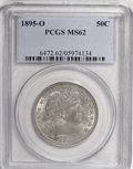 Barber Half Dollars, 1895-O 50C MS62 PCGS....