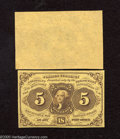 Fractional Currency:First Issue, Fr. 1231SP 5c Narrow Margin Pair First Issue Superb Gem Crisp Uncirculated. An absolutely immaculate first issue specimen pa... (2 notes)