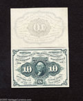 Fractional Currency:First Issue, Fr. 1243SP 10c Narrow Margin Pair First Issue Superb Gem Crisp Uncirculated. This narrow margin pair is as perfect as perfec... (2 notes)