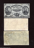 Fractional Currency:Third Issue, Fr. 1275SP Narrow Margin Trio 15c Third Issue Gem Crisp Uncirculated. This is a Grant-Sherman specimen trio with the face an... (3 notes)