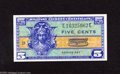 Military Payment Certificates:Series 521, Series 521 5¢ Choice-Gem CU This vivid note offers sharp colors and excellent margins....