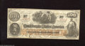 """Confederate Notes:1862 Issues, T41 $100 1862. The back is boldly stamped, """"ISSUED FROM ASST.TREAS. OFF. JACKSON, Miss"""" and dated Jan 15, 1863. A beautiful..."""