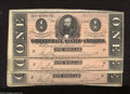 Confederate Notes:1864 Issues, T71 $1 1864. Three consecutive examples with problem-free paper and bold color. The serial numbers and signatures are bold. ... (3 notes)