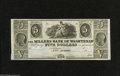 """Obsoletes By State:Michigan, Ann Arbor, MI- Millers Bank of Washtenaw $5 18__ This remainder does carry """"The"""" in the bank title. Choice Crisp Uncircul..."""