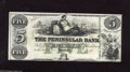 Obsoletes By State:Michigan, Detroit, MI- The Peninsular Bank $5 18__ Thorough study reveals alight corner fold on this ABNCo note with vibrant green b...