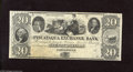 Obsoletes By State:New Hampshire, Portsmouth, NH - Piscataqua Exchange Bank $20 18__. A nicely margined specimen. Choice Crisp Uncirculated....