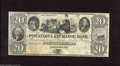 Obsoletes By State:New Hampshire, Portsmouth, NH- The Piscataqua Exchange Bank $20 18__. This gorgeous remainder note has wonderful historical vignettes and t...