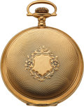 Timepieces:Pocket (post 1900), Ball, Waltham 14k Gold 16 Size Official RR Standard Hunters Case....