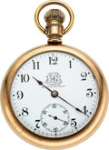 Timepieces:Pocket (pre 1900) , Ball, Hamilton Rare Triple Signed B of LE Official Standar...