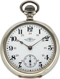 Timepieces:Pocket (pre 1900) , Ball, Hamilton Official B of LF Standard 17 Jewel 18 Size