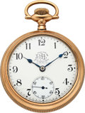 Timepieces:Pocket (pre 1900) , Ball, Hamilton Official B of LF Standard 17 Jewel 18 Size. ...