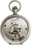 Timepieces:Pocket (pre 1900) , Unique Hand Made Model Key Wind With Central Balance Place...