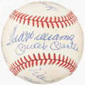 Autographs:Baseballs, 500 Home Run Club Multi-Signed Baseball (11 Signatures) - Includes Mantle, Aaron, Williams, & Mays.. ...
