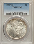 1882-CC $1 MS62 PCGS. PCGS Population: (2872/29883). NGC Census: (1816/14924). CDN: $190 Whsle. Bid for problem-free NGC...
