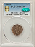 1908-S 1C MS65 Brown PCGS Secure. CAC....(PCGS# 2232)