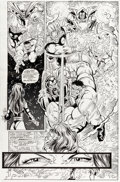 Original Comic Art:Panel Pages, Ron Lim and Joe Rubinstein Infinity Gauntlet #5 Story Page38 Original Art (Marvel, 1991)....