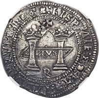 "Featured item image of Mexico: Charles and Johanna ""Early Series"" Rincón 8 Reales ND (c. 1538) •M•-•M• AU50 NGC,..."
