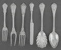 Silver & Vertu:Flatware, A Forty-Five Piece American and French Silver Rope-Twist Flatware Group, mid-19th century and later. Marks: BALL BLACK & C... (Total: 45 Items)