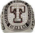 Baseball Collectibles:Others, 2010 Texas Rangers American League Championship Ring.. ...