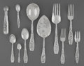 Silver Flatware, American:Whiting, A Thirty-Eight Piece Whiting Multi Motif Ber...