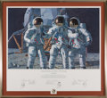 """Explorers:Space Exploration, Alan Bean Signed Limited Edition """"Conrad, Gordon, and Bean: The Fantasy"""" Print, #AP 16/150, also Signed by Charles Conrad and ..."""