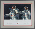 """Explorers:Space Exploration, Alan Bean Signed Limited Edition """"Heavenly Reflections"""" Print, #AP 16/50, with Handwritten Note in Margin, also Signed by Char..."""