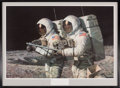 """Explorers:Space Exploration, Alan Bean Signed Limited Edition """"Helping Hands"""" Print, #169/850, in Framed Display. ..."""