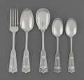 Silver & Vertu:Flatware, A Thirty-Six Piece John Wendt Ribbon Pattern Silver Flatware Group, New York, New York, designed 1870 by Charles... (Total: 36 Items)