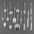 Silver Flatware, American:Tiffany, A One Hundred Twenty-Four Piece Tiffany & Co. CustomEngraved Pattern Flatware Service, New York, New York, circ...(Total: 124 Items)