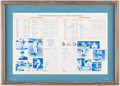 Autographs:Photos, 1989 Texas Rangers Old-Timers Game Multi-Signed Scorecard withGeorge W. Bush.. ...