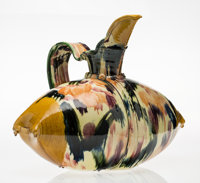 Betty Woodman (1930-2018) Persimmon Pillow Pitcher Ceramic 17-1/2 x 23-1/4 x 14-3/4 inches (44.5