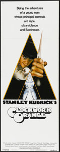 "Movie Posters:Science Fiction, A Clockwork Orange (Warner Brothers, 1971). Insert (14"" X 36""). Science Fiction...."