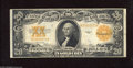 Large Size:Gold Certificates, Fr. 1187 $20 1922 Gold Certificate Very Fine. This crisp note maintains vibrant colors and solid surfaces....