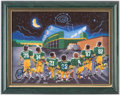 Autographs:Photos, 1996 Green Bay Packers Multi-Signed Print with Favre and White.....