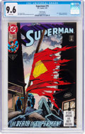 Modern Age (1980-Present):Superhero, Superman #75 Third Printing (DC, 1993) CGC NM+ 9.6 White pages....