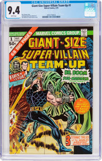 Giant-Size Super-Villain Team-Up #1 (Marvel, 1975) CGC NM 9.4 White pages