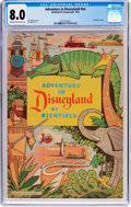 Golden Age (1938-1955):Miscellaneous, Adventure in Disneyland #nn (Walt Disney Productions, 1955) CGC VF 8.0 Cream to off-white pages....