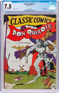 Golden Age (1938-1955):Classics Illustrated, Classic Comics #11 Don Quixote - Original Edition (Gilberton, 1943)CGC VF- 7.5 Off-white to white pages....