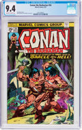 Bronze Age (1970-1979):Adventure, Conan the Barbarian #54 (Marvel, 1975) CGC NM 9.4 Off-white to white pages....