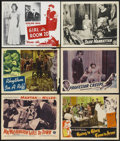 """Movie Posters:Black Films, Mr. Washington Goes to Town Lot (Dixie National, 1941). Lobby Cardand other Black Films Lobby Cards (5) (11"""" X 14""""). Black ...(Total: 6 Items)"""