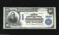 National Bank Notes:Tennessee, Knoxville, TN - $10 1902 Plain Back Fr. 626 The City NB Ch. # 3837Crispy and bright is this $10 from the biggest nati...