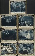 """Movie Posters:Serial, Blake of Scotland Yard (Victory Pictures, 1937). Title Lobby Cardand Lobby Cards (6) (11"""" X 14""""). Episode 2 -- """"Death in th...(Total: 7 Items)"""